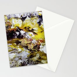 Unicorn in the magic forest, acrylic on canvas, abstract Stationery Cards