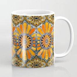 Celebrating the 70's - tangerine orange watercolor on grey Coffee Mug