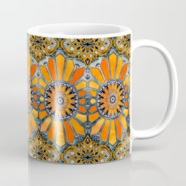 Celebrating the 70's - tangerine orange watercolor on grey Coffee Mug
