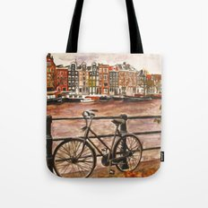 Going Dutch (red) Tote Bag