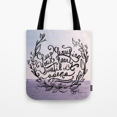 Breaking Tote Bag