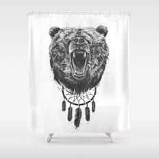 Don't wake the bear Shower Curtain
