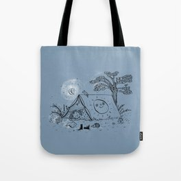 Camping in nature ink illustration Tote Bag
