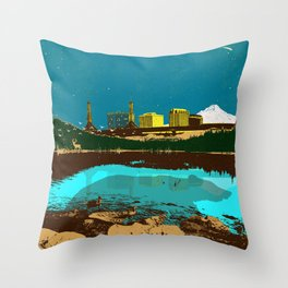 GRIZZLY MENACE Throw Pillow