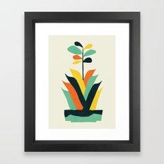 Exotic geometric plant Framed Art Print