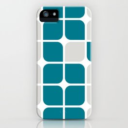 Modern Cubes - Teal iPhone Case
