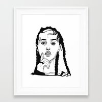 cactei Framed Art Prints featuring FKA Twigs by ☿ cactei ☿