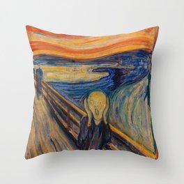 Edvard Munch - The Scream 1893 Throw Pillow