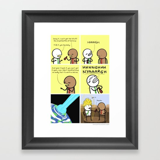 Antics #077 - pop culture reference Framed Art Print