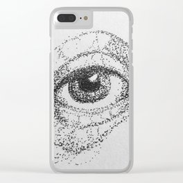 Eye study, stippling Clear iPhone Case