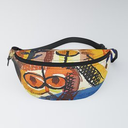 Barbaric Composition by Paul Klee - Vintage Painting Fanny Pack