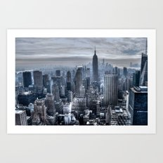 New York skyscrapers Art Print