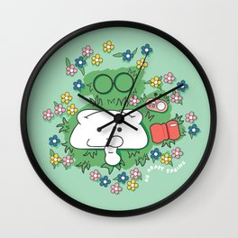Oh Happy Spring Wall Clock