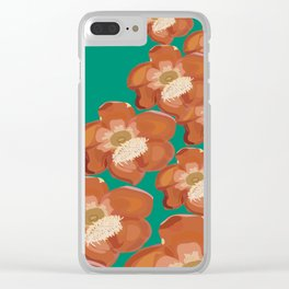 cannon ball fire Clear iPhone Case