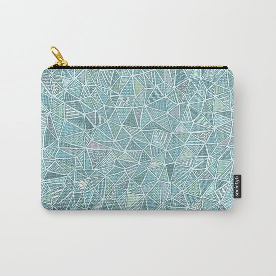 Pastel Diamond Carry-All Pouch