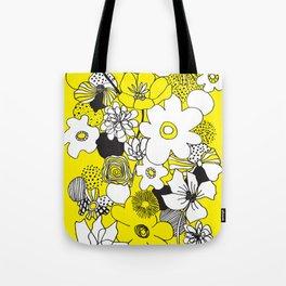 Floral Medley - Yellow Tote Bag