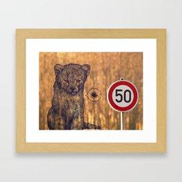 Not my rules Framed Art Print