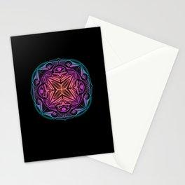 Trippy Mandala Pattern Stationery Cards