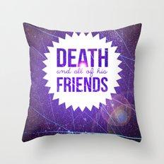 Mortem et Omnibus Amicis Throw Pillow