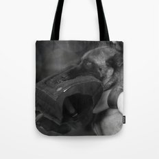 Strong companion in life, the guard dog Tote Bag