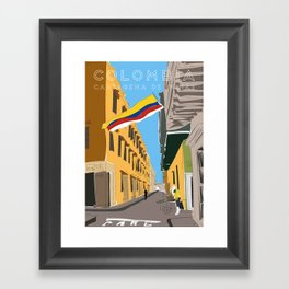 Cartagena de Indias, Colombia Travel Poster Framed Art Print