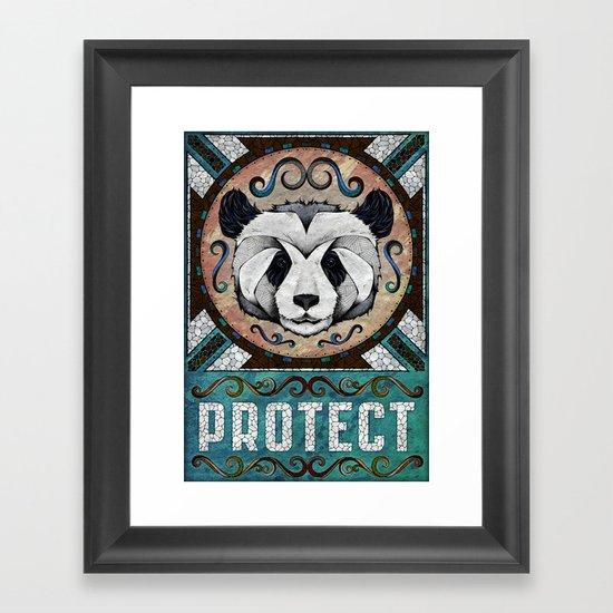 Protect Framed Art Print
