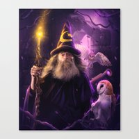 merlin Canvas Prints featuring Merlin by EnchantedWhispers