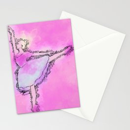 Ballerina Lines  Stationery Cards