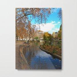 Parc Monceau in Autumn Metal Print