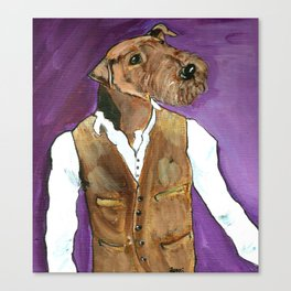 Best dressed Airedale Canvas Print