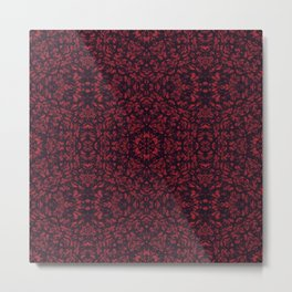 Foglie rosse Metal Print