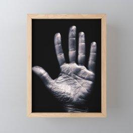 Silver hand Framed Mini Art Print