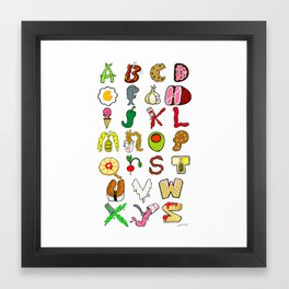 Foodabet Framed Art Print