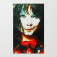 bjork Canvas Prints featuring BJork by avida