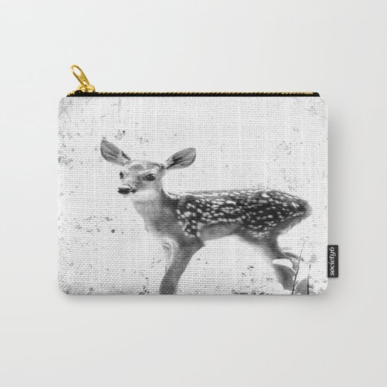 The Sweetest fawn Black & White Carry-All Pouch