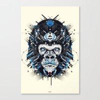 gorilla Canvas Prints featuring gorilla by yoaz