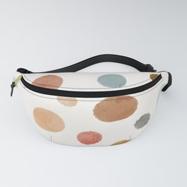 Vintage and Retro Inspired Painted Earth Tones Circles Pattern Fanny Pack