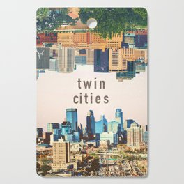 Twin Cities Minneapolis and Saint Paul Minnesota Skylines Cutting Board