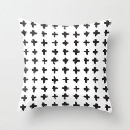 Brushstroke Swiss Cross Pattern Throw Pillow