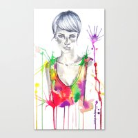 acid Canvas Prints featuring acid by Lua Fraga