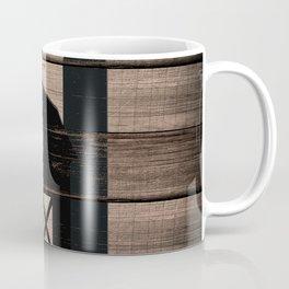 Black Rustic Barn & Rooster Coffee Mug