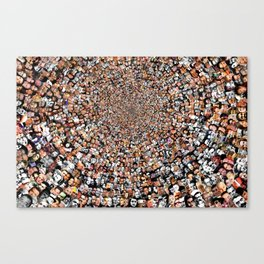 """""""The Work 3000 Famous and Infamous Faces Collage Canvas Print"""