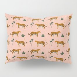 Big Cat pattern Softpink Pillow Sham