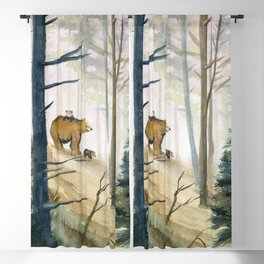 Bear Family 2 Blackout Curtain