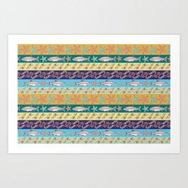 oceanpattern Art Print