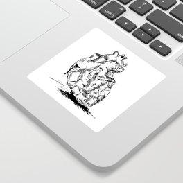A Broken Heart Sticker