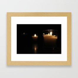 Signal Fire Framed Art Print
