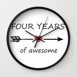Four years of awesome Wall Clock
