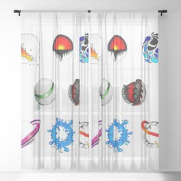 Evolution of Elements Sheer Curtain