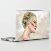 jennifer lawrence Laptop & iPad Skins featuring Jennifer Lawrence by Pandora's Box Design Co.